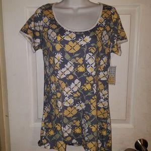 LuLaRoe Womens Uneven Hem T-Shirt Short Sleeve